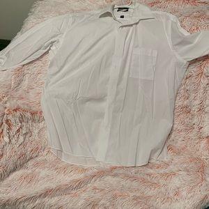 Men's white Pierre Cardin button down shirt